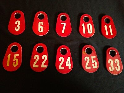 Vintage Plastic Cow Ear Tags Lot of 10