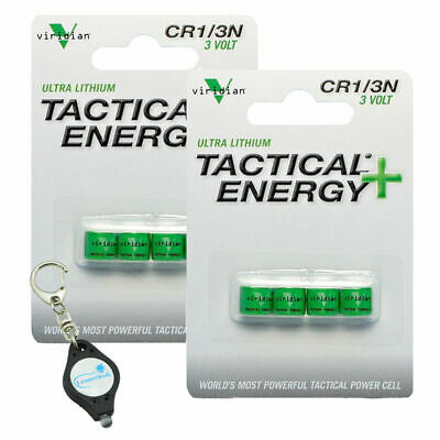 Viridian CR1/3N 3V Lithium Batteries 8 Count w/ Keychain Light