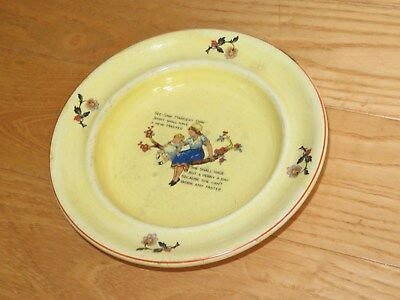 Child's Bowl Antique See Saw Margery Daw Vintage Nursery Rhyme (m154)