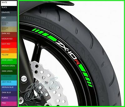8 x Kawasaki ZX10R Wheel Rim Decals Stickers - 20 colors available - zx-10r 1000