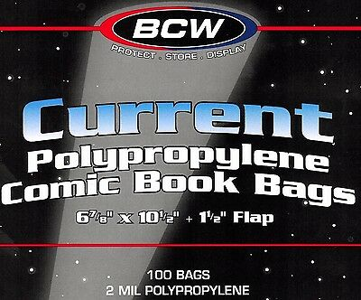 300 BCW Current Bags Archival Safe Comic Book Storage Supplies