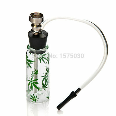 NEW Mini Small Glass Water Smoking bottle mini hookah pipe shisha tobacco