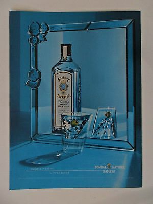 "2005 Print Ad Bombay Sapphire Dry Gin Martini ~ Yves Behar ""Double Martini"""