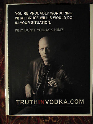 2010 Print Ad 2010 Sobieski Vodka ~ Bruce Willis Wodka Polska ASK HIM
