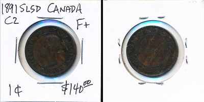 1891 Slsd Canada 1¢ > Worthy Collectible > See Images > No Reserve