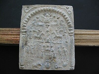 DANUBIAN HORSEMAN CULT ANCIENT CELTIC ROMAN LEAD VOTIVE PLAQUE 1-3 ct.AD 97 mm