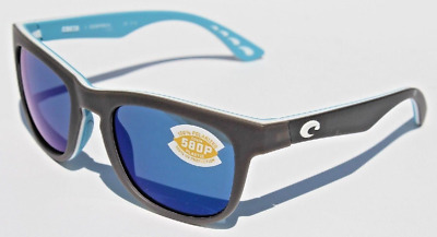 f02184be37 Costa Del Mar Copra Sunglasses - Matte Gray White Sea Glass Blue Mirror