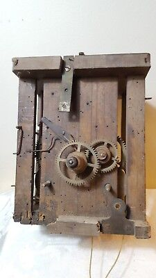 Large Black Forest 8 Day Weight Driven Longcase Clock Movement Spares Or Repairs
