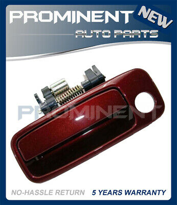 Door Outside Handle  Vintage Red Pearl Front Left For 97-01 Toyota Camry