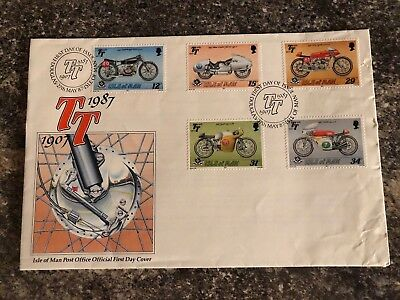 ISLE OF MAN - 1987 TT - FIRST DAY COVER -  FDC with insert