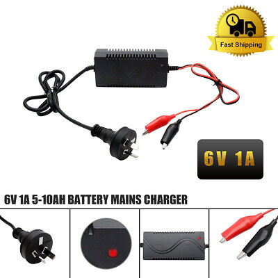 6V 1A Volt Intelligent Smart Electronic Battery Charger Car Van Motorbike AU