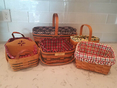 Longaberger Easter, Napkin, Bread, Candle & Christmas Bayberry Basket Lot of 5