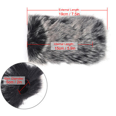 L Size Microphone Mic Furry Windscreen Windshield Cover Muff for TAKSTAR DM F2T9