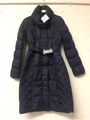 Navy Blue S Size Small Mamalicious Long Quilted Maternity Coat UK Size 8