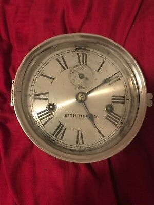 Antique Seth Thomas Maritime Marine Ship Gallery Clock