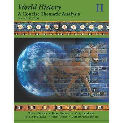 World History, A Concise Thematic Analysis - Paperback NEW Steven Wallech 2012-1