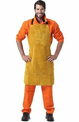 Leather Welding Bib Apron for Woodwork/Home Improvement/Heavy Duty Work NEW!!!