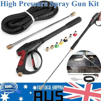 4000PSI High Pressure Spray Gun Kit Wash 5 Nozzles + 9M Hose 99CM Wand Lance Kit