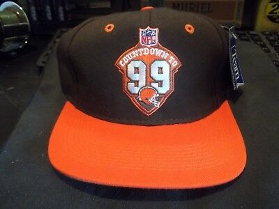 3baaa61224a VINTAGE NWT NFL Cleveland Browns Countdown to 99 Football Snapback ...