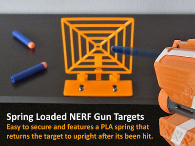 3d printed nerf dart target spring activated self resetting