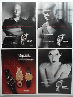 Nice Lot of 13 Different Seiko Watch Watches Magazine Print Ads
