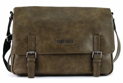CAMP DAVID Mount Bear Messengerbag Umhängetasche Tasche Khaki Braun Neu