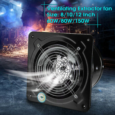 """8"""" - 16"""" Commercial Axial Industrial Ventilation Extractor Plate Fan Blower B"""