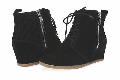 5f30566b39c WOMENS DOLCE VITA black suede ankle boots  wedges  shoes sz. 8 New ...