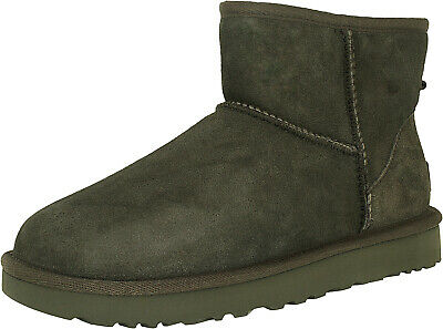 Ugg Women's Classic Mini II Leather Ankle-High Suede Boot