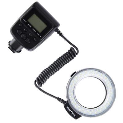 48 Macro LED Ring Flash Bundle with LCD Display Power Control, Adapter Rings and