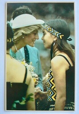 Postcard-Royalty.new Zealand.diana Rubbing Noses With Dawn Petley At Eden Park