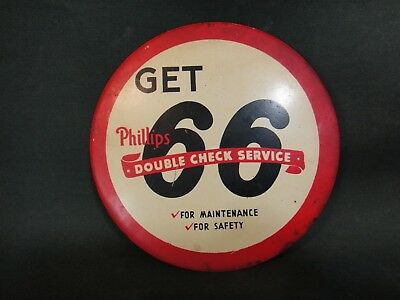 Vintage Phillips 66 Advertising Button - Double Check Service - Gas & Oil Adv