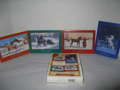 NIB 2002 Breyer Horse Holiday Christmas Cards - 4 Different Designs - 16 Cards