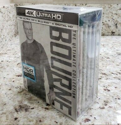 BOURNE THE ULTIMATE COLLECTION (4K Ultra HD Blu-ray Disc, No Digital) Like New