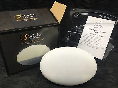 Soleil Sound Machine White Noise Sleep Nature Spa Relax Therapy Night LIGHT
