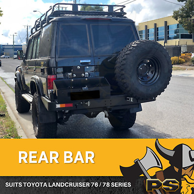 Rear Bar Spare Wheel Carrier Dual to suit Toyota Landcruiser 76 Series Heavy Dut