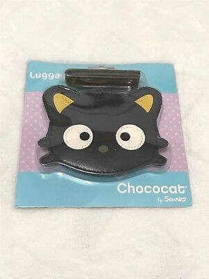 Sanrio, Adorable Chococat Kitty Luggage Tag with Strap, 4 x 3 Inches, 2007