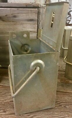 VINTAGE INDUSTRIAL HEAVY METAL STORAGE CONTAINER BIN w/LID (20 AVAILABLE)