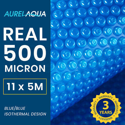 AURELAQUA Solar Swimming Pool Cover 500 Micron Heater Bubble Blanket