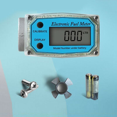 1 * 150L/min Turbine Diesel Fuel Flow Meter Guage Counter For Gasoline Water New