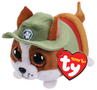 """Ty Beanie Boos 4"""" Teeny Tys Paw Patrol TRACKER Chihuahua Dog MWMT's Stackable"""