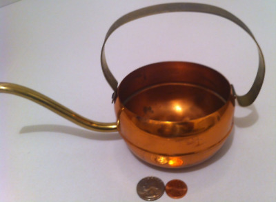 Vintage Metal Copper and Brass Watering Can, Plant Can, Home Decor, Shelf Displa