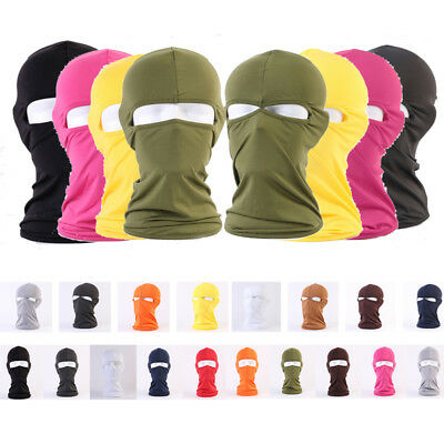 2 Holes Spandex Balaclava Hood Full Face Tactical Mask Hat Ski Cycle Sports Caps
