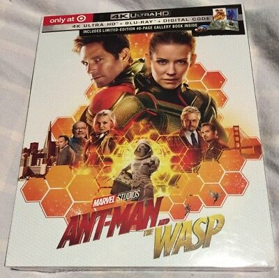 ANT-MAN and The WASP 4K ULTRA HD BLU RAY DIGITAL Target Exclusive Brand New