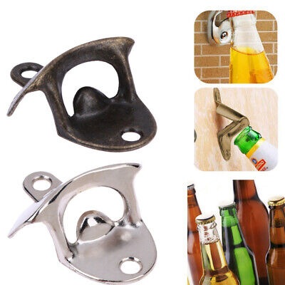 AU Bottle Opener Retro Wall Mounted Vintage Beer Wine Open Tool Home Bar Decor