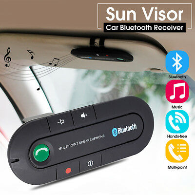 Wireless Bluetooth Car Handsfree Speaker Phone Sun Visor Clip for iPhone Android