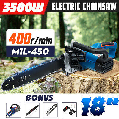 "Chainsaw Electric Chain Saw Powerful 4800W 19"" Bar E-Start Chain Saw Pruning NEW"
