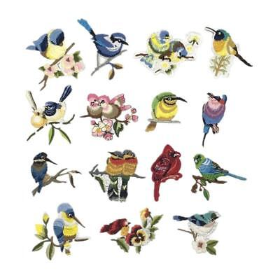Birds Mixed Applique Embroidery Patch Sticker Iron On Sew Cloth Patch DIY Craft
