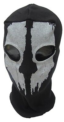 WARRIOR GHOST 2 Hole Wool MASK Zorro Ninja Fancy Dress Costume Senior Balaclava