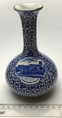 Circa 1910 Kenilworth Pottery Blue Glased Vase - Christchurch Priory